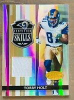 2006 Leaf Certified Torry Holt Jersey Card, Certified Skills SP #/100, Rams!
