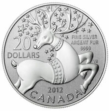 2012 Canada $20 Fine Silver Commemorative Coin - Magical Reindeer