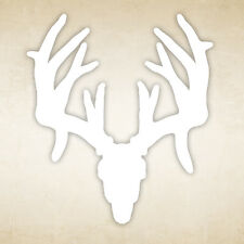 "MassyOak - 5"" x 7"" inch - WHITETAIL SKULL  - Window Sticker Decal"