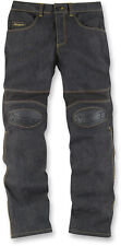 ICON OVERLORD Motorcycle Riding Pants/Jeans (Denim Blue) 32