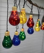 LED Lichterkette bunte Birnen 5x10 LEDs ca. 3,6m für Außen Partybeleuchtung