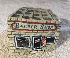 Barbers Collectible Old Time Barber Shop Painted On Rock ,Art Decor