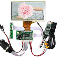 """VGA 2AV Reverse LCD Driver Board With 6.5"""" AT065TN14 800x480 LCD Touch Panel"""