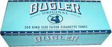Bugler King Size Cigarette Tubes - Lot Of 5 Boxes=1,000 Tubes