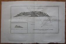Cook: View of Masafuero Chile - 1774