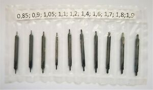 1 Pack of 10 Carbide Centre Drills,0.85mm – 1.9mm