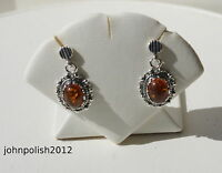 Lovely Baltic Amber Earrings with Silver 925