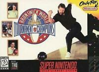 Brunswick World Tournament of Champions Super Nintendo Game SNES Used