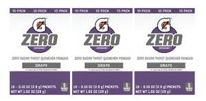 Gatorade Zero Grape Singles Drink Mix 3 Pack