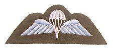 British Airborne Forces PARACADUTE Wings PARA MODULO NUMERO cachi / Bianco/Blu