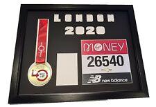 """Virtual London Marathon personnalisé médaille cadre /""""Script/"""""""