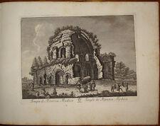 Stampa antica Tempio Minerva Medica roma old print 1796 M. Vasi radierung