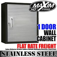MAXIM HD 1 Door Hanging Wall Cabinet Stainless Steel Tool Garage Storage Black