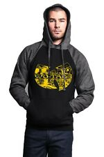 Men's Wu-Tang Black And Yellow Logo Sweatshirt Hoodie