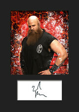 ERICK ROWAN #2 (WWE) Signed Photo A5 Mounted Print - FREE DELIVERY