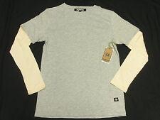 $54 NWT Mens Unyforme T-Shirt Accor LS Tee Heather Grey Beige Urban Size XL N147