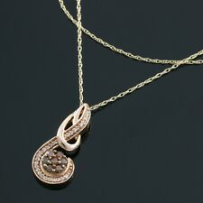 Lovely Musical Note Necklace With 0.31ctw Genuine Diamond in 10K Rose Gold 18in