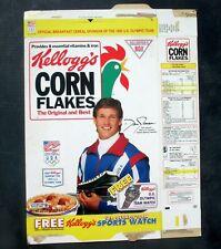 Kellogg's Corn Flakes Flattened Cereal Box 1992 Dan Jansen Olympic Team Watch