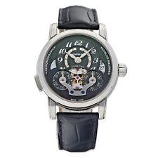 Montblanc 107070 Nicolas Rieussec Chronograph 43mm Steel Leather Men's Watch
