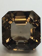 "66.81ct! Square Emerald Cut Smoky ""Topaz"" Quartz Gem Loose Stone Jewel Collect"