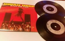 "URIAH HEEP Stay On Top  7"" 2 X 7 Inch  In Gatefold Sleeve, 6 Tracks ALL NEARMINT"