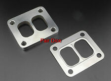 """T4 Divided Turbo Inlet FLANGE 304 Stainless Steel 1/2"""" + SS Gasket"""
