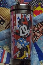 NEW DISNEY MINNIE MOUSE STAINLESS STEEL TRAVEL TUMBLER CUP AMERICA PATRIOTIC