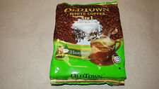 OldTown White Coffee 3 in 1 Hazelnut Flavor IPOH, MALAYSIA 4 bags of 15 sachets