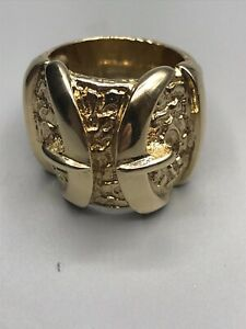 9ct HEAVY WEIGHT GENTS BUCKLE RING