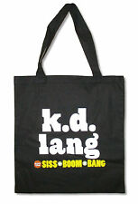 K.D. Lang Boom Bang Black Tote Bag New Official Pop Country Band Music