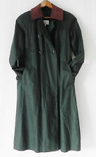 Petite Sophisticate Trench Coat Dark Green Cotton Belted Liner Size M