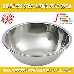 Stainless Steel Deep Mixing Salad Bowl (CHEAPEST) Large Deep Metal Dish Salad