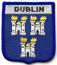 DUBLIN CITY COAT OF ARMS WORLD EMBROIDERED PATCH BADGE