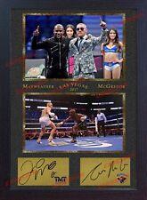 Conor MCGREGOR Floyd MAYWEATHER JR TMT UFC MMA firmato incorniciato PUGILATO cimeli