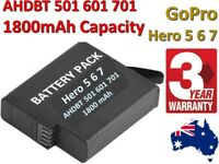 1800mAh AHDBT-701 601 501 Rechargeable Battery for Gopro Hero 7 / 6 / 5 Camera