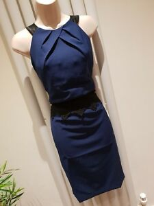 Lipsy Navy Dress Size 10 New with Tags