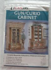 UCANDO Gun/Curio Cabinet Blueprints, Instructions & Material List - NIP