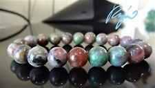 """Genuine KASGAR GARNET bead bracelet for MEN (Stretch) 10mm - 7"""", 7.5"""" 8"""", 8.5"""""""
