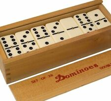 Double Six Club Pub League Dominoes with Spinners Set of 28 Wooden Box PACK OF 2