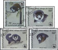 Comoren 792-795 gestempeld 1987 Wereldwijd Conservation