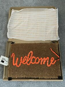 BANKSY - WELCOME MAT GROSS DOMESTIC PRODUCT LOVE WELCOMES - IN HAND