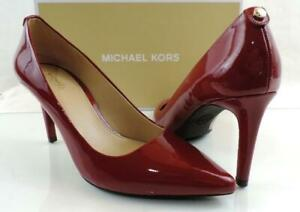 Women's Michael Kors Dorothy Pump Pointy Toe Patent Leather Maroon Red Size 7