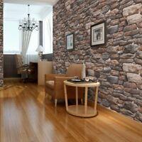 4M 3D Brick Stone Self Adhesive Wallpaper Retro PVC Wall Sticker Home Arts Decor