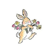 PENNY BLACK RUBBER STAMPS SPRING JOY BUNNY FLOWERS STAMP