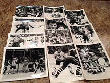 11pc Lot Pittsburgh Penguins Hockey 1980's 8x10 Wire Photo RARE Gretzky #17