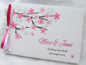 WEDDING / ANNIVERSARY GUEST BOOK - PERSONALISED ALBUM WITH HARD BACKED COVERS