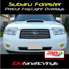 06-08 Forester Fog light Yellow Overlays Tint Vinyl Film STi Rally JDM XT FOZZY