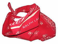 RRL Ralph Lauren Double RL Red Bandana Handkerchief