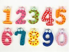 Funny Wooden Toys Cartoon Fridge Magnet 0-9 Numbers