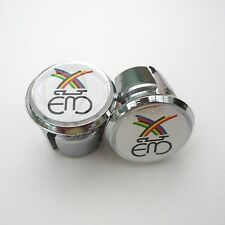 Vintage Style 'Eddy Merckx' Chrome Racing Bar Plugs, Caps, Repro